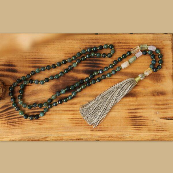 kaivalya, japa mala, osobní talisman, symbol, buddhismus, meditační pomůcka