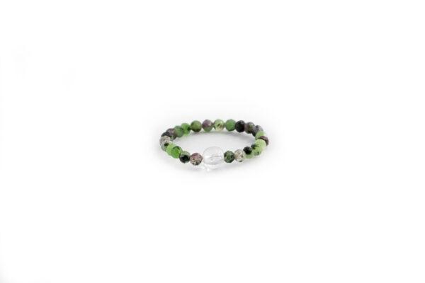 prstýnek, rubín v zoisitu, dárek, minerální kameny, kaivalya