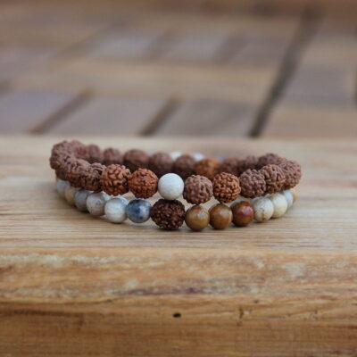 náramky, rudraksha, radost, dárek, mineální kameny, kaivalya