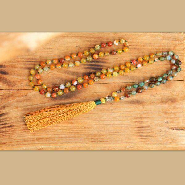 japa mala, meditační, talisman, osobní, minerální kameny