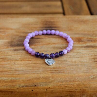 náramek, dárek, minerální kamen, ametyst, láska